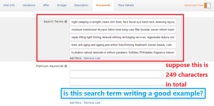Search Term Example And Keywords
