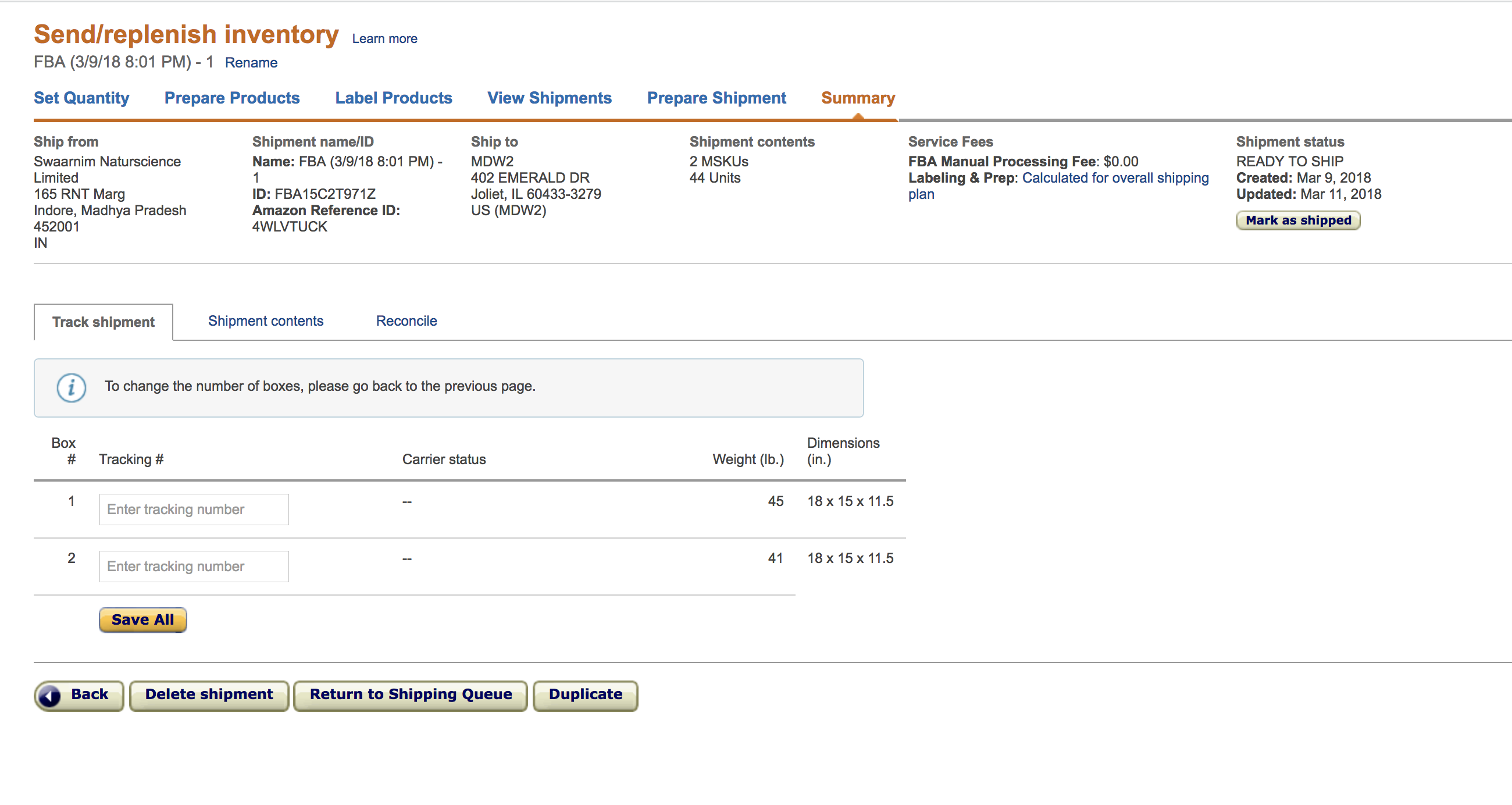 Sending FBA Shipment from India to USA - Help For New Sellers - Amazon  Seller Forums