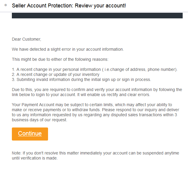 Scam email....I think - Selling on Amazon - Amazon Seller Forums