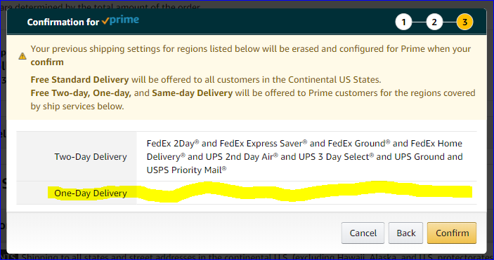 SFP Sellers Using Shipping Region Automation, Next Day