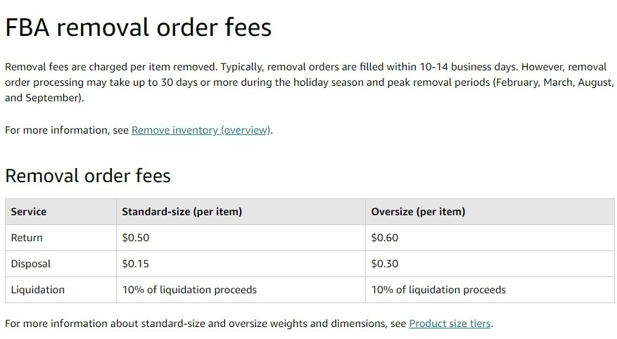 amazon seller central fees