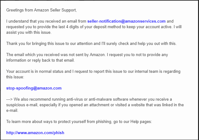 E Mail From Seller Notification Amazonservices Com General Selling Questions Amazon Seller Forums
